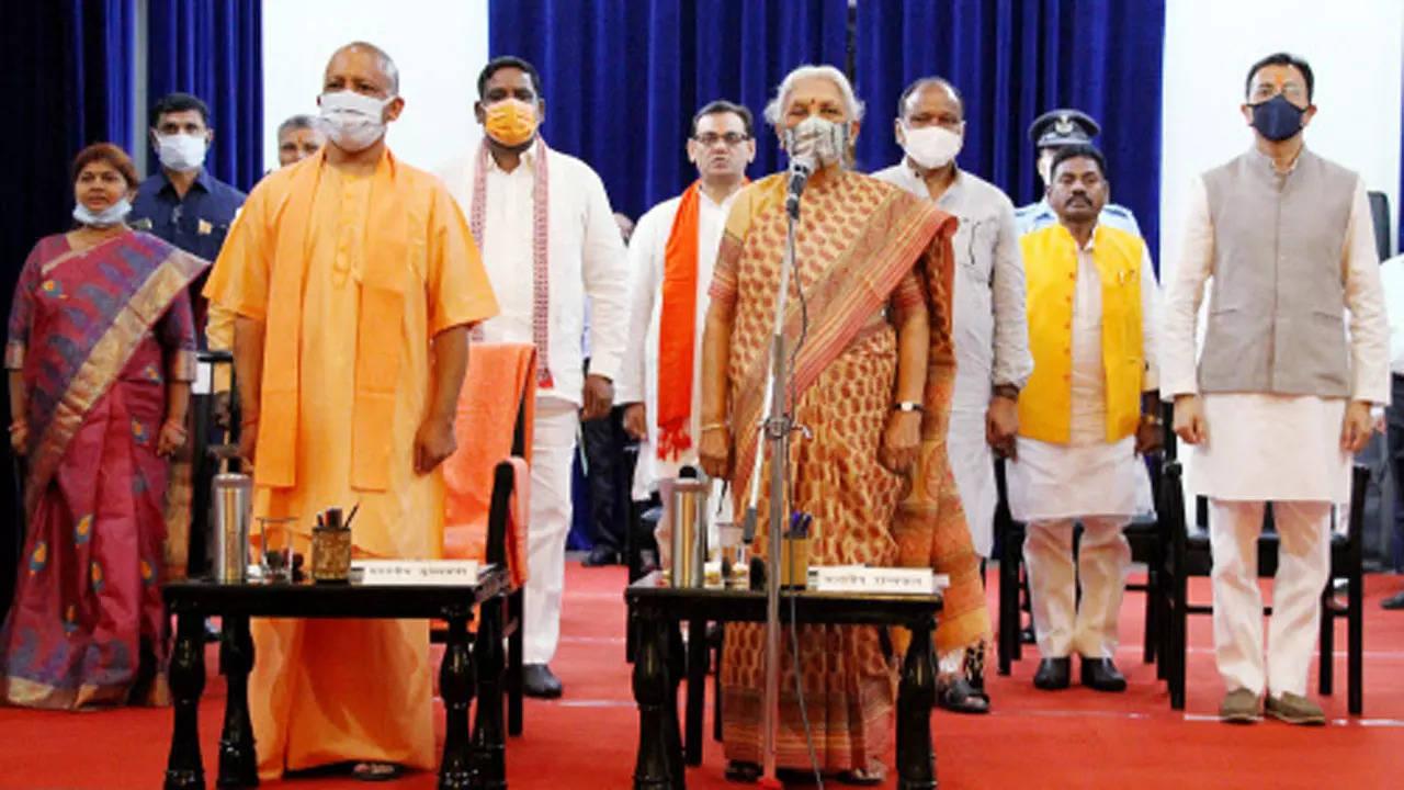 योगी सरकार में तीसरी बार मंत्रिमंडल का विस्तार: 7 नए मंत्रियों ने ली शपथ